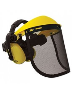 Защита лица металлическая сетка с наушниками Saber - 14-014