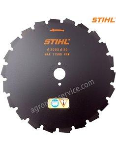 Нож Stihl 22 зубый 200мм для мотокос Stihl FS 260 - 490 - 41197134200