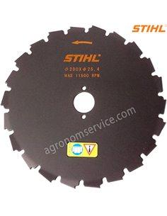 Нож Stihl 22 зубый 200мм-долото для мотокос Stihl FS 87 - 250 - 41127134203