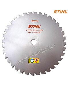 Нож Stihl 36 зубый 225мм твердый сплав для мотокос Stihl FS 260 - 560 - 40007134211